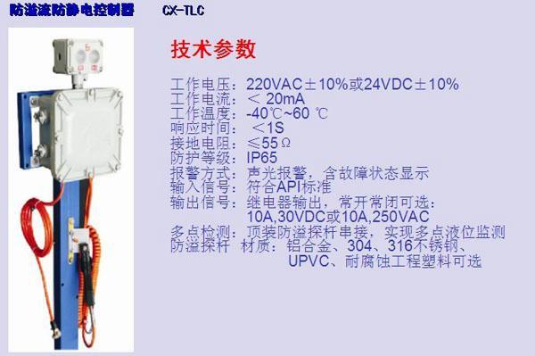 CX-TLC防溢油防静电控制器